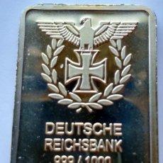Billetes con errores: ESPECTACULAR LINGOTE DEUTSCHE REICHSBANK GOLD. Lote 146490794