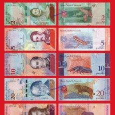 Billetes con errores: VENEZUELA COMPLETA 2 5 10 20 50 100 200 Y 500 BOLIVARES SOBERANOS 2018 SC UNC . Lote 151888044