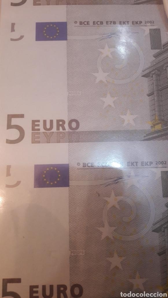 Billetes con errores: 2002 Alemania Duisenberg Error 5 euros cuatro cortados juntos plancha 2002 - Foto 3 - 122247704