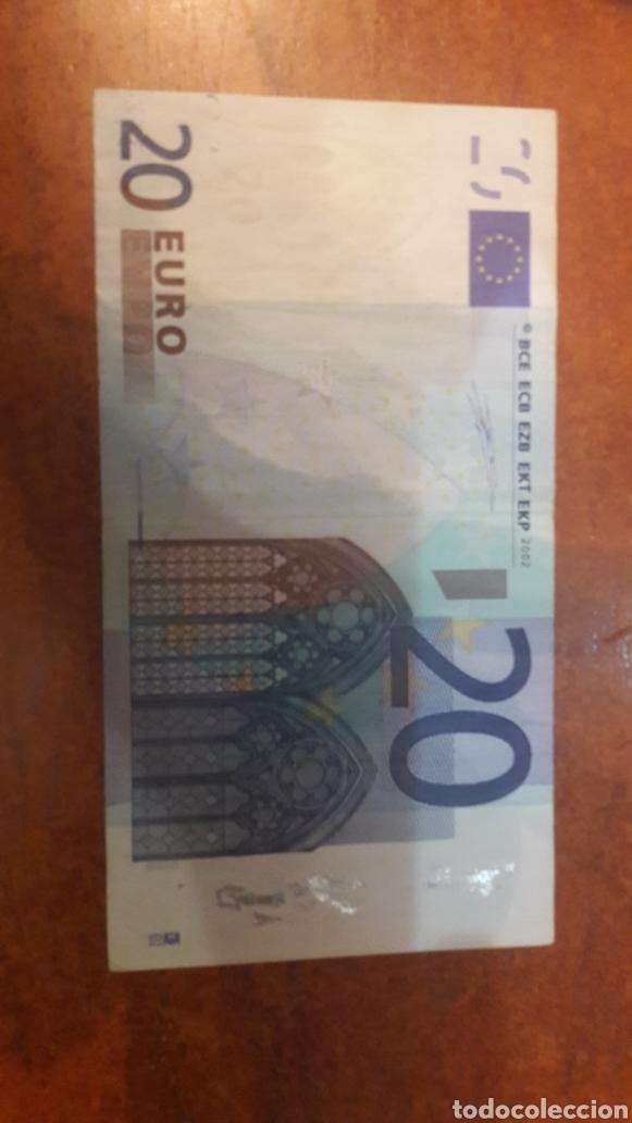 ERROR 2002 ESPAÑA DUISRNBERG 20 EUROS FALTA CASI TODA LA BANDA (Numismática - Notafilia - Variedades y Errores)