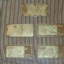 Billetes con errores: COLECCION 6 BILLETES CHAPADO EN ORO 24 KILATES SEGUN FOTOS.. Lote 155169433