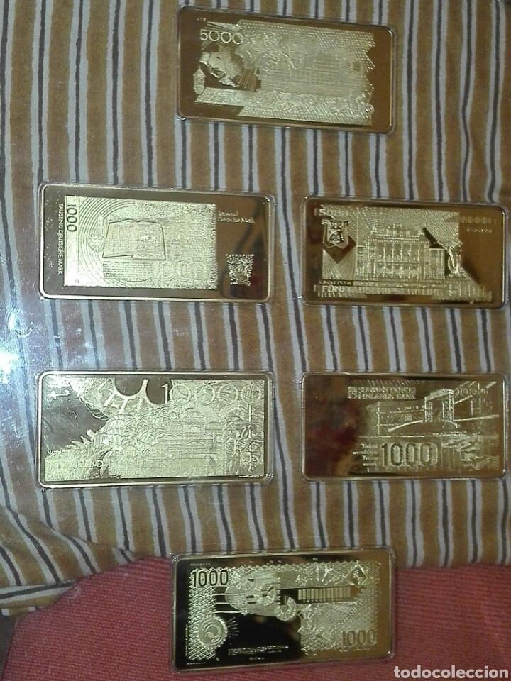 Billetes con errores: coleccion 6 billetes chapado en oro 24 kilates - Foto 2 - 155170190