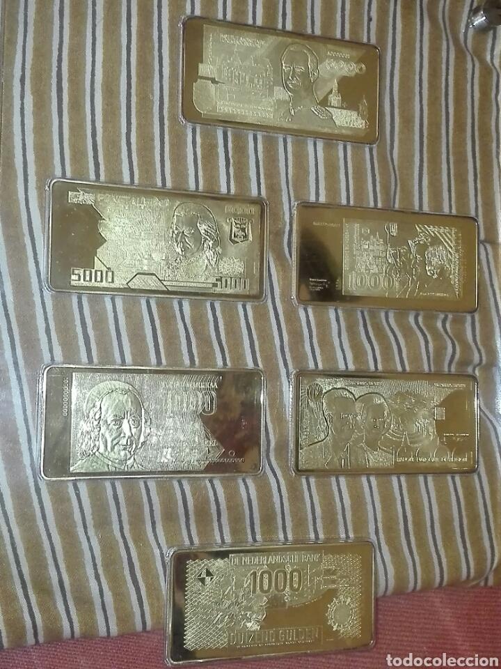 Billetes con errores: coleccion 6 billetes chapado en oro 24 kilates - Foto 3 - 155170190