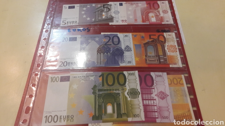 BILLETES EURO FASCIMEL EUROOEAN MONETARY INTITUTE 1997 (Numismática - Notafilia - Variedades y Errores)