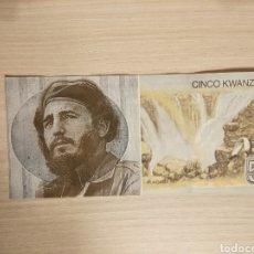 Billetes con errores: BILLETE CINCO KWANZAS BANCO NACIONAL ANGOLA CON FIDEL CASTRO. Lote 156915770