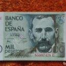 Billetes con errores: BILLETE DEFECTUOSO SIN CIRCULAR DE MIL (1000) PESETAS AÑO 1979 - BENITO PÉREZ GALDÓS. Lote 159358066