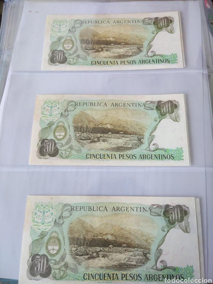 Billetes con errores: Lote x 21 billetes 50 pesos argentina correlativos con diferentes tematicas. Che, trump, putin... - Foto 4 - 159827012