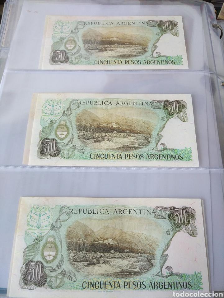 Billetes con errores: Lote x 21 billetes 50 pesos argentina correlativos con diferentes tematicas. Che, trump, putin... - Foto 6 - 159827012