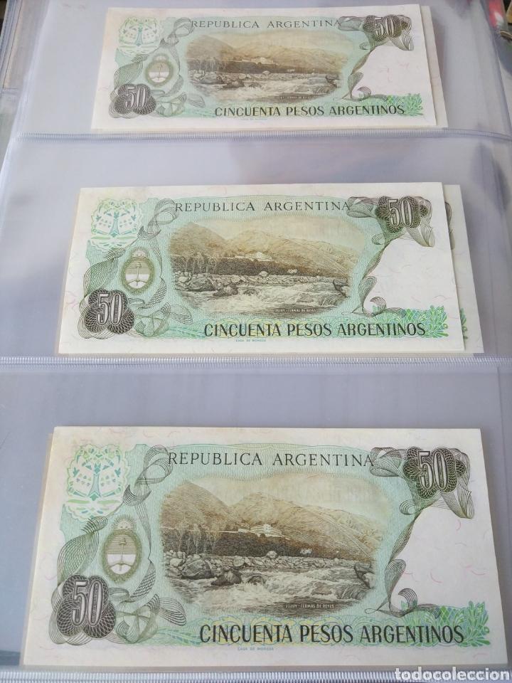 Billetes con errores: Lote x 21 billetes 50 pesos argentina correlativos con diferentes tematicas. Che, trump, putin... - Foto 8 - 159827012