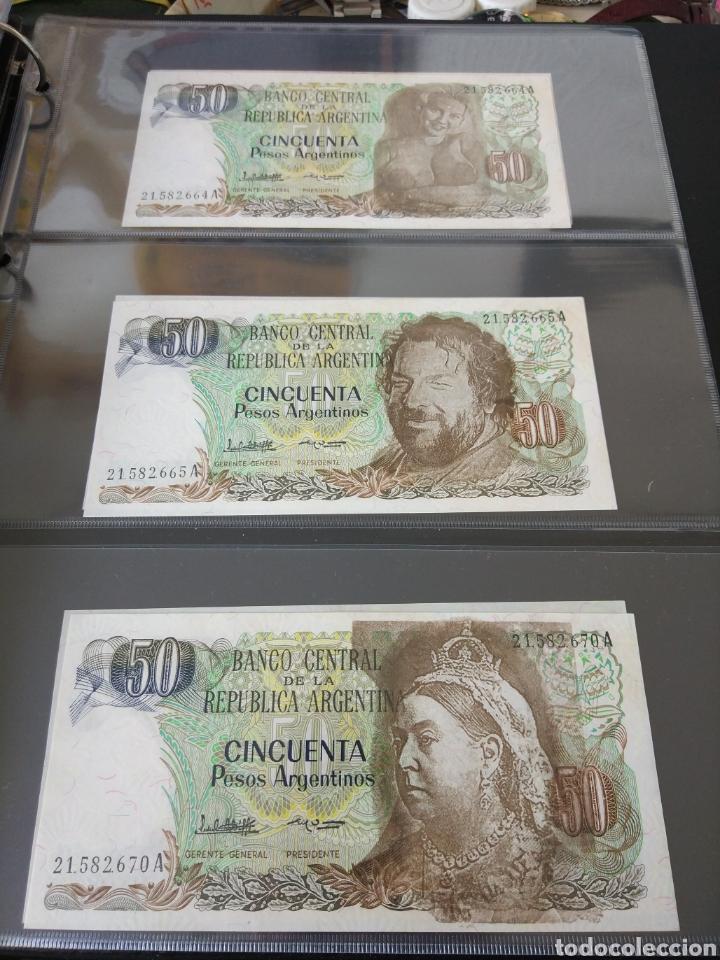 Billetes con errores: Lote x 21 billetes 50 pesos argentina correlativos con diferentes tematicas. Che, trump, putin... - Foto 9 - 159827012
