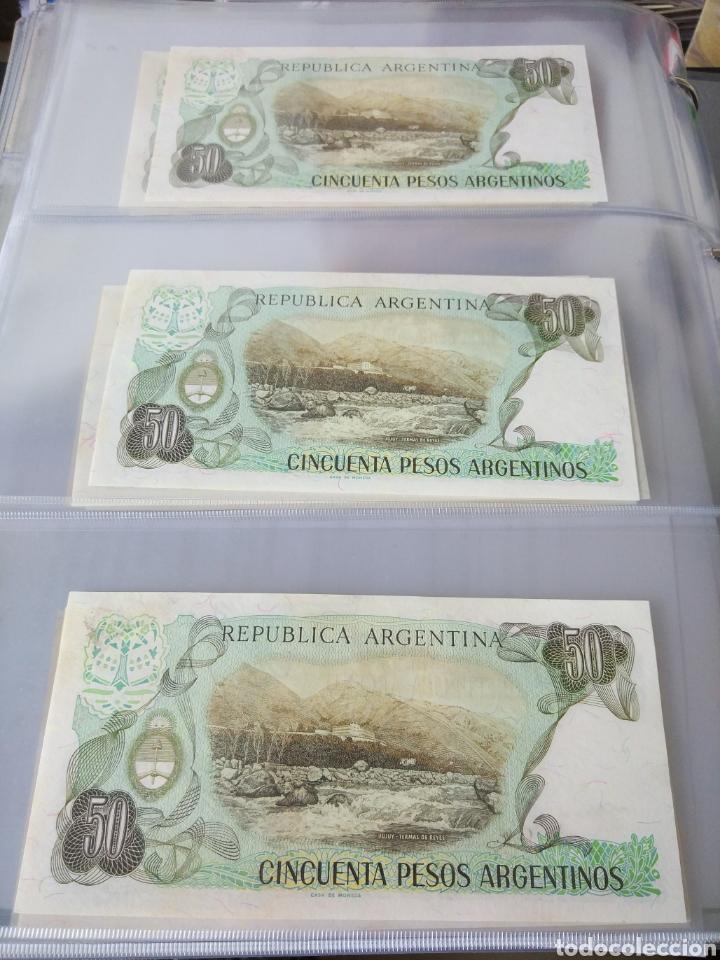 Billetes con errores: Lote x 21 billetes 50 pesos argentina correlativos con diferentes tematicas. Che, trump, putin... - Foto 10 - 159827012