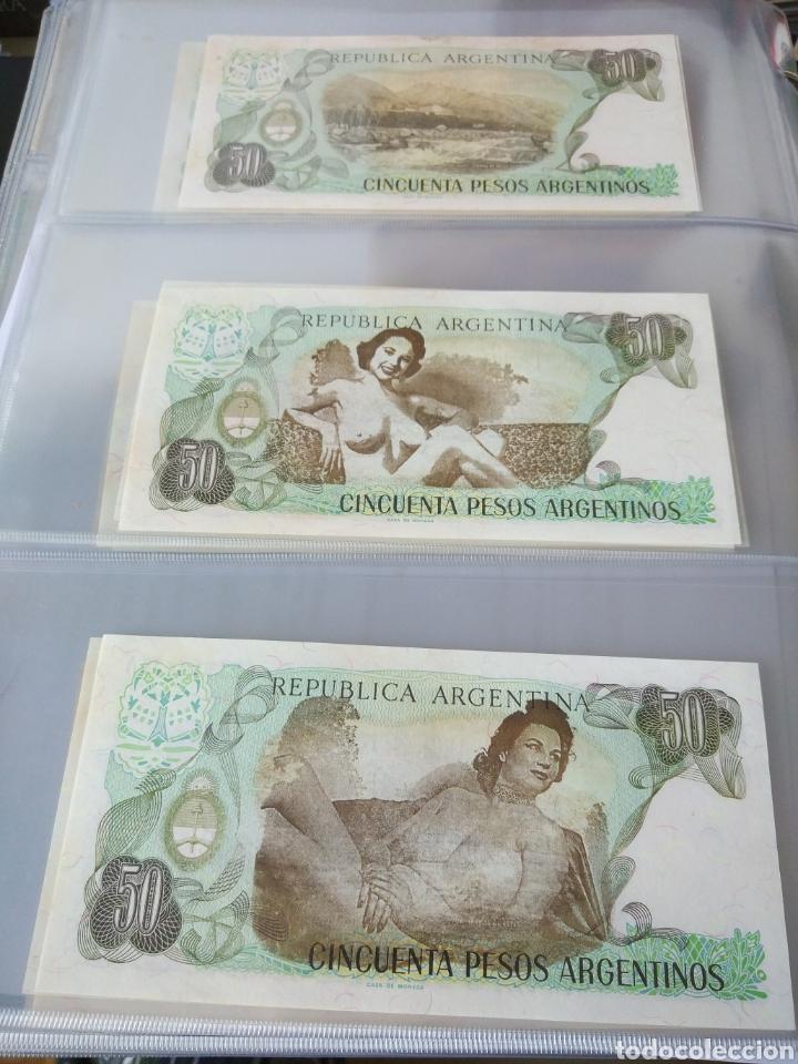 Billetes con errores: Lote x 21 billetes 50 pesos argentina correlativos con diferentes tematicas. Che, trump, putin... - Foto 12 - 159827012