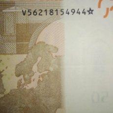 Billetes con errores: BILLETE DE 50€ CON ESTRELLA DE CINCO PUNTAS EN LA NUMERACIÓN - RARO - VER FOTOS. Lote 164946210