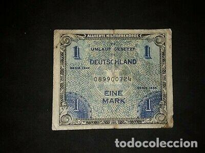 Billetes con errores: RARISIMO BILLETE 1 MARK 1944. OCUPACION MILITAR NAZI - Foto 1 - 168465988