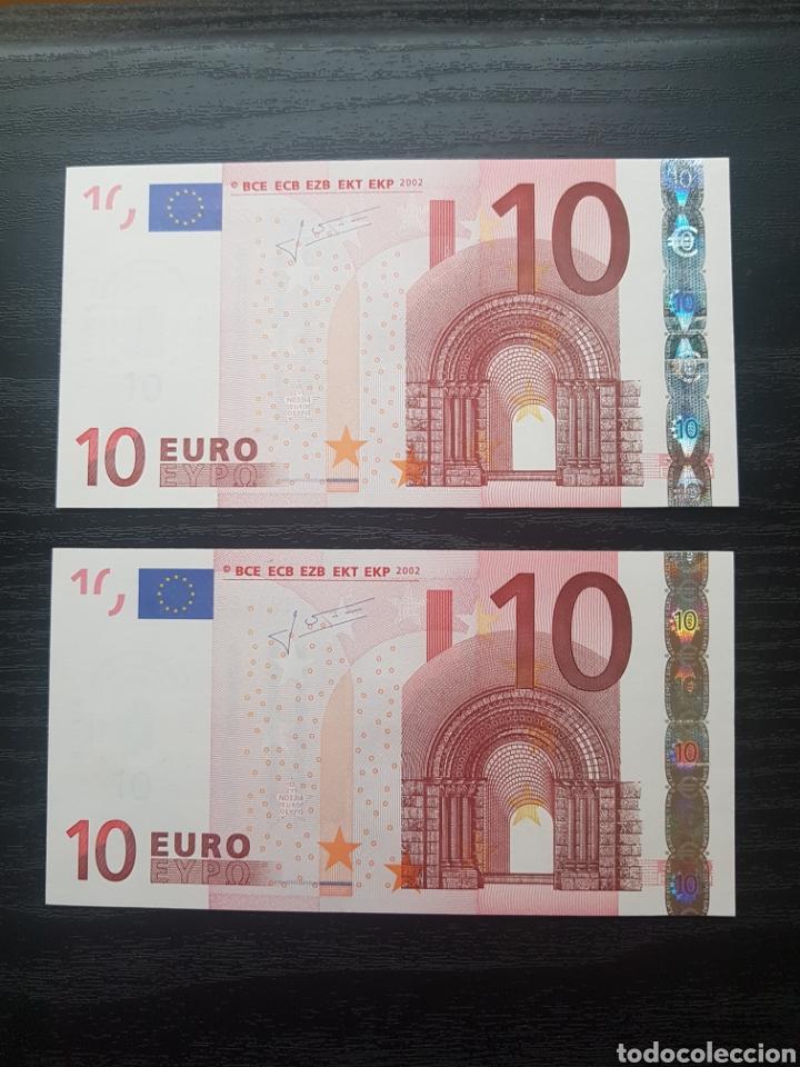 BILLETES 10 EUROS 2002 TRICHET GRECIA N033. (Numismática - Notafilia - Variedades y Errores)