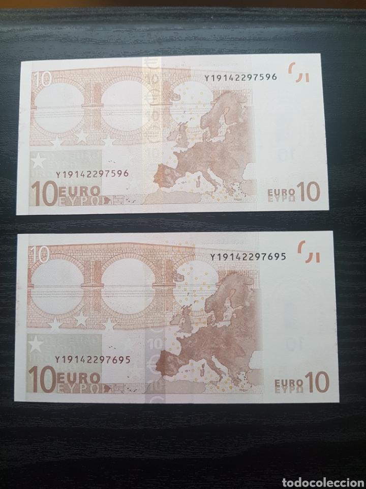 Billetes con errores: Billetes 10 Euros 2002 Trichet GRECIA N033. - Foto 2 - 169344149
