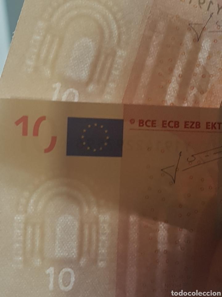 Billetes con errores: Billetes 10 Euros 2002 Trichet GRECIA N033. - Foto 3 - 169344149