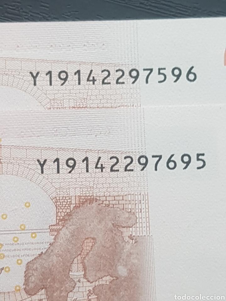 Billetes con errores: Billetes 10 Euros 2002 Trichet GRECIA N033. - Foto 5 - 169344149