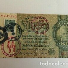 Billetes con errores: BILLETE OCUPACION NAZI SELLO ESVASTICA. ESPECTACULAR.. Lote 171126597