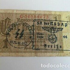 Billetes con errores: BILLETE OCUPACION NAZI SELLO ESVASTICA . ESPECTACULAR.. Lote 171127109
