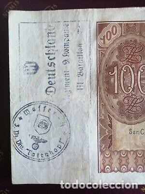 Billetes con errores: BILLETE OCUPACION NAZI 100 zloty SELLO ESVASTICA. - Foto 1 - 171139755