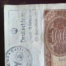 Billetes con errores: BILLETE OCUPACION NAZI 100 ZLOTY SELLO ESVASTICA.. Lote 171139755