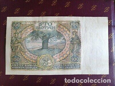Billetes con errores: BILLETE OCUPACION NAZI 100 zloty SELLO ESVASTICA. - Foto 3 - 171139755