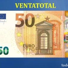 Billetes con errores: BILLETE TRAINER DE 50 EUROS BILLETE PARA COLECCIONARLO O JUGAR O ENSEÑANZA SE USAN EN PELICULA - Nº1. Lote 182227380