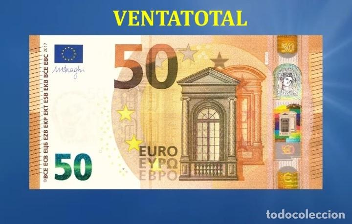 BILLETE TRAINER DE 50 EUROS BILLETE PARA COLECCIONARLO O JUGAR O ENSEÑANZA SE USAN EN PELICULAS- Nº4 (Numismática - Notafilia - Variedades y Errores)