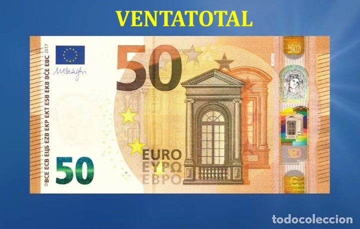 BILLETE TRAINER DE 50 EUROS BILLETE PARA COLECCIONARLO O JUGAR O ENSEÑANZA SE USAN EN PELICULAS- Nº6 (Numismática - Notafilia - Variedades y Errores)