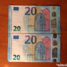 Billetes con errores: BILLETE DE 20 € CON (GRAVE ERROR DE IMPRESIÓN ) BORDES DIFERENTES ,AÑO 2015. Lote 174082699