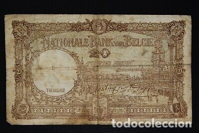 Billetes con errores: BILLETE SELLO ESVASTICA OCUPACION ALEMANA BELGICA SEGUNDA GUERRA MUNDIAL. - Foto 2 - 175864892