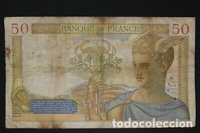 Billetes con errores: BILLETE SELLO ESVASTICA OCUPACION ALEMANA FRANCIA SEGUNDA GUERRA MUNDIAL. - Foto 2 - 175864920