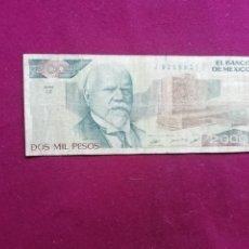 Billetes con errores: MEXICO. 2000 PESOS 24.2.1987. Lote 177730419