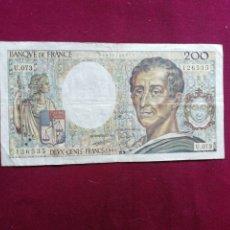 Billetes con errores: FRANCIA BILLETE DE 200 FRANCOS DE 1989. Lote 177730518