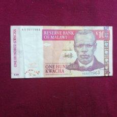 Billets avec erreurs: MALAWI - 100 KWACHA DE 2003. Lote 177730680