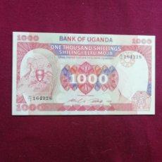 Billetes con errores: UGANDA 1000 SHILINGI DEL AÑO 1986 SC. Lote 207557477
