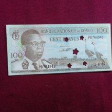 Billets avec erreurs: CONGO. 100 FRANCOS 1964. Lote 177731319