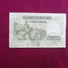 Billets avec erreurs: BELGICA 50 FRANCS (10 BELGAS) 1942 . Lote 177731557