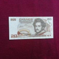 Billets avec erreurs: AUSTRIA. 20 CHELINES. VIENA, 1 DE OCTUBRE DE 1985 EBC+. Lote 177733209
