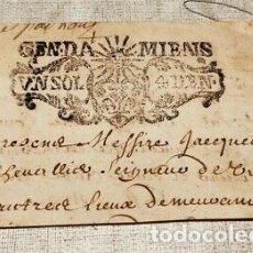 Billetes con errores: RARO BILLETE DOCUMENTO DE PAGO FRANCIA NAPOLEON.. Lote 178289395