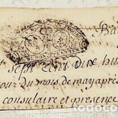 Billetes con errores: RARO BILLETE DOCUMENTO DE PAGO FRANCIA NAPOLEON.. Lote 178289497
