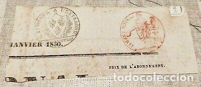 RARO BILLETE DOCUMENTO DE PAGO FRANCIA NAPOLEON. (Numismática - Notafilia - Variedades y Errores)