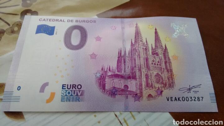 BILLETE 0 EUROS CATEDRAL DE BURGOS SIN CIRCULAR (Numismática - Notafilia - Variedades y Errores)