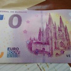 Billetes con errores: BILLETE 0 EUROS CATEDRAL DE BURGOS SIN CIRCULAR. Lote 178878280