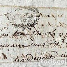 Billetes con errores: RARO BILLETE O CARTA DE PAGO EPOCA NAPOLEON.FRANCIA.. Lote 179249402