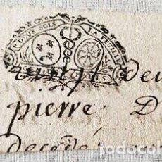 Billetes con errores: RARO BILLETE O CARTA DE PAGO EPOCA NAPOLEON.FRANCIA.. Lote 179249431