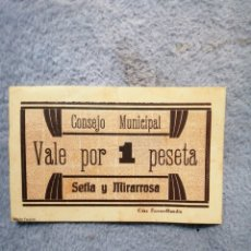 Billetes con errores: CONSEJO MUNICIPAL SELIA MIRARROSA FACSÍMIL. Lote 188581306