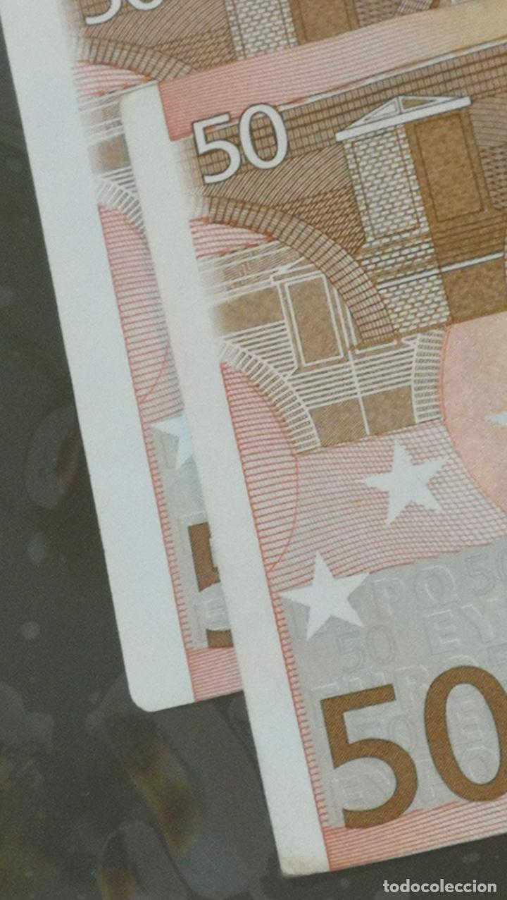 Billetes con errores: BILLETE DE 50e. CON VARIOS ERRORES, FALLAS O DEFECTOS QUE A CONTINUACIÓN ENUMERO - Foto 7 - 189899040