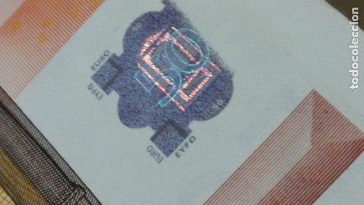 Billetes con errores: BILLETE DE 50e. CON VARIOS ERRORES, FALLAS O DEFECTOS QUE A CONTINUACIÓN ENUMERO - Foto 13 - 189899040